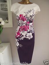 MONSOON RHONDA ROSE IVORY PINK PURPLE FLORAL SHIFT DRESS WEDDING & FASCINATOR 18