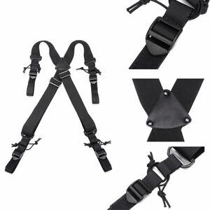 Tactical Duty Belt Harness Strap Back Support X-Back Belt Suspenders