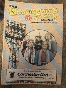 Scunthorpe United V Colchester United 8/2/86 1986 Match Programme