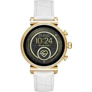 Michael Kors  Access MKT5067 Gold Touch Screen Sofie Smartwatch 41MM White Band