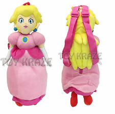 "PRINCESS PEACH PLUSH BACKPACK! DOLL FIGURE BAG NINTENDO SUPER MARIO 18-19"" NEW"