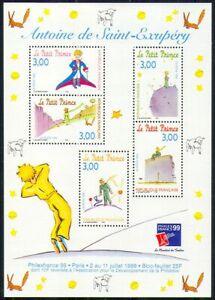France 1998 Saint-Exupery/Little Prince/Fox/Book/Writer/StampEx 5v m/s (n29619)