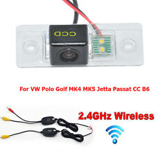 Wireless Car Reverse Rear View Camera For VW Polo Golf MK4 MK5 Jetta Passat B6