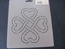 Quilting KD24 Heart Clover Stencil Template Art Craft Paint
