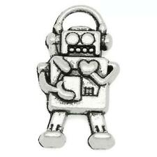Robot Charm/Pendant Tibetan Antique Silver 17mm  10 Charms Accessory Jewellery
