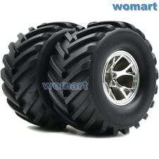 2pcs 2.2 Badland Monster Big foot Tires W/ 2.2'' Wheels For Tamiya Traxxas Truck