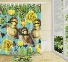 A Furry Bird Waterproof Bathroom Polyester Shower Curtain Liner Water Resistant