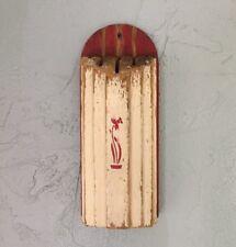 Vintage Chippy Paint Wooden Kitchen Knife Holder Art Deco Modern Wall Hanging