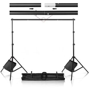 FAST SHIP! 10' X 7' Adjustable Photography Background Support Stands & Sandbags