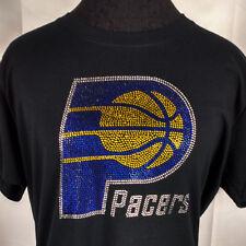 Women's Indiana Pacers Rhinestone Basketball  T Shirt Tee  Ladies