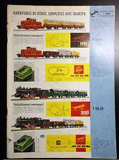 Lot de dépliants catalogue Fleischermann  Trains