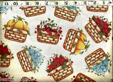 Cranston VIP ~ Fruit Cherry Berry Basket Pear 100% Cotton Quilt Craft Fabric BTY
