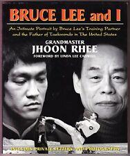 Bruce Lee & I signed 2000 book Grandmaster Jhoon Rhee Taekwondo Martial Arts