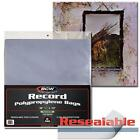50 loose BCW Record Sleeves Resealable Plastic Bag Outer 33 RPM LP Covers Album