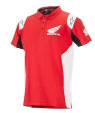 Alpinestars HONDA POLO-SHIRT Red casual T-shirt Mens - Official Honda Clothing