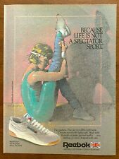 1985 Reebok Freestyle Sneakers Vintage Print Ad/Poster Shoes Fitness Aerobics
