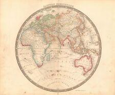 1843 ANTIQUE MAP- TEESDALE - EASTERN HEMISPHERE