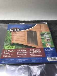 Trixie Pet Products Plastic Door for Peaked Roof Dog House, Large