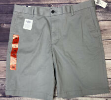 Izod Stretch Short Relaxed Flat Front Grey Size 34