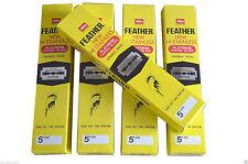 Feather Double Edge Blades Razor Platinum Coat Hi Stainless Ye 5 Boxes x 100 pcs