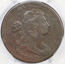 1800 S-212 R-3 PCGS F 15 Draped Bust Large Cent Coin 1c