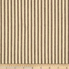 Ticking Stripe Fabric Brown White Fabric By The Yard Striped Fabric Sewing New