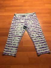 Z By Zella Womens Cropped Capri Leggings Size M Medium Striped Design