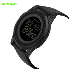 SANDA  Super Slim Sport Watch Men Electronic LED Digital Wrist Watches New