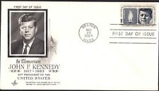 US 1964 , In Memoriam John F Kennedy 1917-1963, FDC