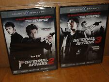 Infernal Affairs 2 / Infernal Affairs 3 (DVD) 2-Disc! Anthony Wong, Tony Leung,