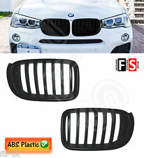 BMW F25/F26 LCI X3/X4 2014-ON FACELIFT FRONT KIDNEY GRILLES - MATTE BLACK