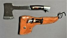 1960's~WESTERN CUTLERY~W66 HUNTING KNIFE & CAMP AXE COMBO w/ORIG. LEATHER SHEATH