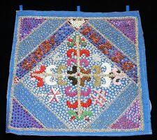 "1980s Haitian Voodoo Flag ""Blue Cross"" by Clotaire Bazile (Stea)"