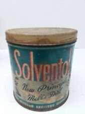 VINTAGE SOLVENTOL CAN HOUSEHOLD CLEANER TIN SOLVENTOL CHEMICAL PRODUCTS
