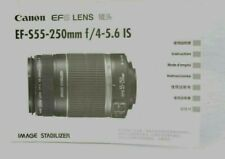 Canon EFS Lens EF-S 55-250mm f/4-5.6 IS Instruction Manual Guide LNC (475)