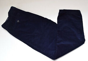 MARKS AND SPENCER MEN'S NAVY CORDUROY TROUSERS - W38 L31 / J3021