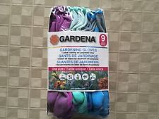 Gardena Gardening Gloves 9 Pairs -Latex Coating on Polyester Liner One Size-NEW