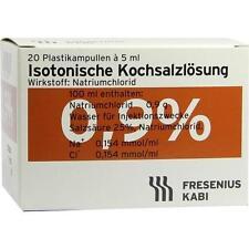 ISOTONISCHE Kochsalzlösung 0,9% Plastikampullen 20X5 ml PZN 2001067