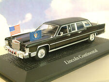 ATLAS 1/43 LINCOLN CONTINENTAL LIMO. RONALD REAGAN ASSASSINATION ATTEMPT 1981