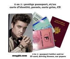 elvis Presley 101 protège carte grise permis passeport passport cover