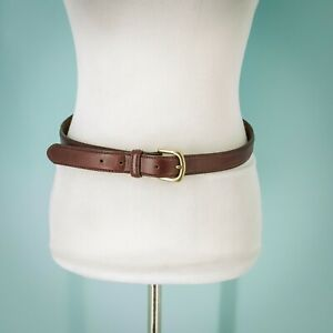 L.L.Bean Size 40 Belt Oxblood Red Leather Adjustable Gold Tone Buckle Smooth