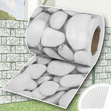 Garden fence screening privacy shade 70m roll panel cover mesh foil cobblestone