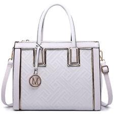 Women Designer PU Leather Tote Handbag Shoulder Bag Long Adjustable Handle