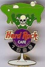 Hard Rock Cafe ONLINE 1999 HALLOWEEN PIN Martini Glass SKULL & Xbones HRC #2856