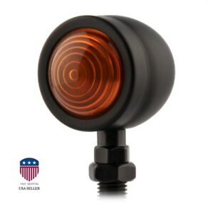 2Pcs Amber Bullet Motorcycle Turn Signal Light Indicator Blinker Lamp
