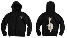 Rocafella Records 20th Anniversary The Plug Hoodie Men's Black White Gold ROC96