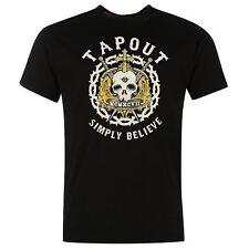 Tapout Print Shirt schwarzes T-Shirt Herrenshirt Baumwolle 3XL – NEU