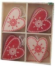 Heaven Sends Scandi Nordic Style Hearts Christmas Tree Decorations Set