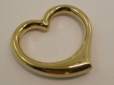 New 9ct Solid Yellow Gold Large Open Puff Heart Pendant