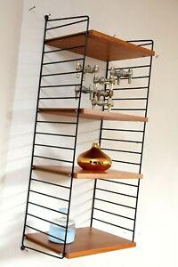 60er 70er system shelf  Original String Nisse Regalsystem Regal 100x40 cm